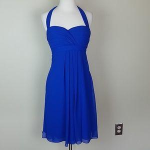 🍄Bill Levkoff blue midi halter dress 6